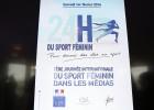 L'affiche des 24 heures du sport féminin. © Marie Etchegoyen/CSA.
