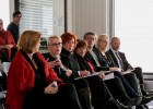 """Les membres du comité d'orientation """"Droits des femmes"""" assistent à la conférence de presse / © Photo CSA"""